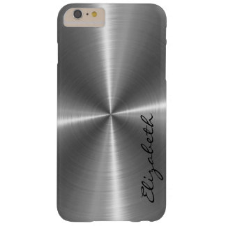 Chrome Stainless Steel Metal Look Barely There iPhone 6 Plus Case
