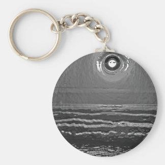 Chrome Sunset Key Ring