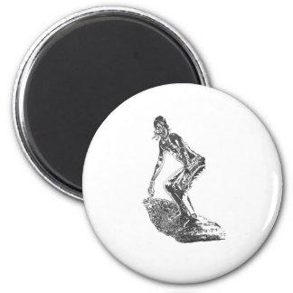 Chrome Surfer Magnet