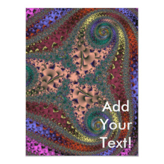 Chrome Swirl Abyss Abstract Magnetic Invitations