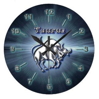 Chrome Taurus Large Clock