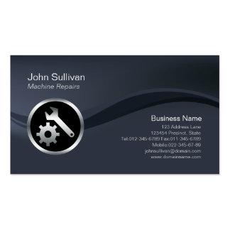 Chrome Tools Icon Machine Repairs Business Card