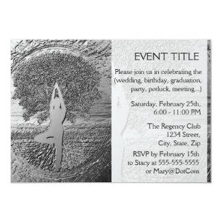 Chrome Tree of Life Yoga Invites