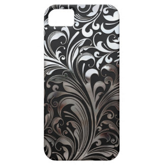 Chrome Vines on Black iPhone 5 Case
