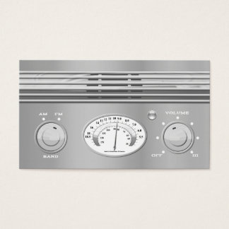 Chrome Vintage Radio Business Card