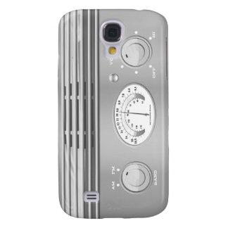 Chrome Vintage Radio Galaxy S4 Cases