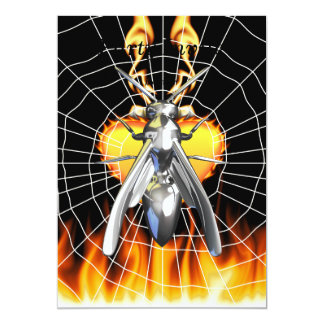 Chrome yellow jacket design 4 with fire and web. announcement