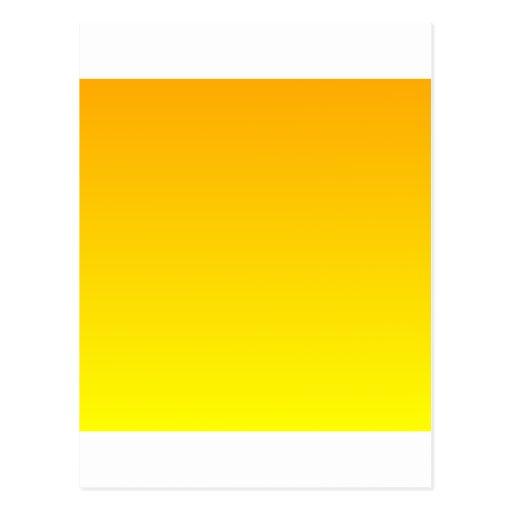 Chrome Yellow to Yellow Horizontal Gradient Post Card