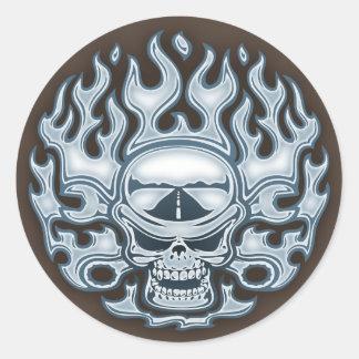 Chromeboy -WF Classic Round Sticker