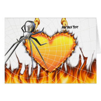 Chromed Black Widow Design 2 Greeting Cards