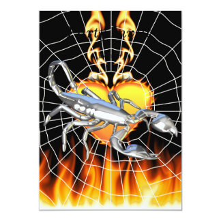 Chromed scorpion design 1 with fire and we personalized invites