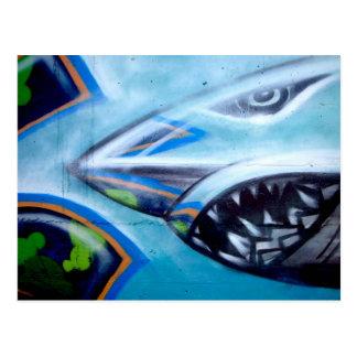Chromie Da Shark Post Card