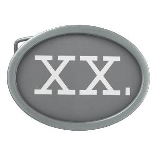 Chromosome - XX, Buckle Oval Belt Buckles