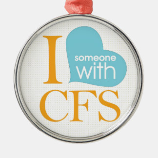 Chronic Fatigue Awareness Silver-Colored Round Decoration