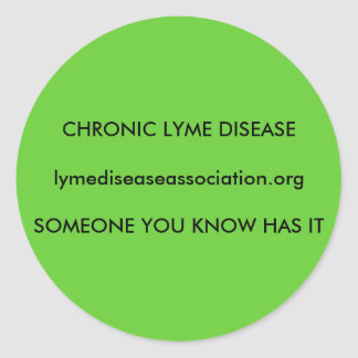 Chronic Lyme Disease Round Sticker
