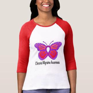 Chronic Migraine Awareness Butterfly T-Shirt