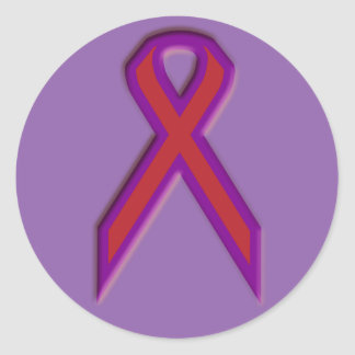 Chronic Migraine Awareness Ribbon - Sticker