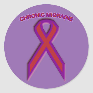 Chronic Migraine Awareness Ribbon - Sticker
