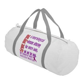 Chronic Migraine - Neurological Disease Gym Bag