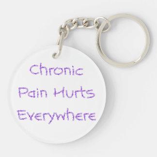 Chronic Pain Hurts Everywhere Double-Sided Round Acrylic Key Ring