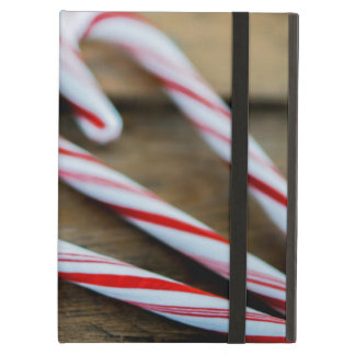Chrstmas Candy Canes on Vintage Wood Case For iPad Air