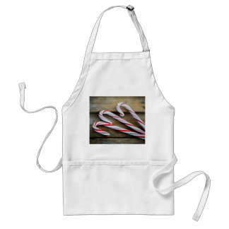 Chrstmas Candy Canes on Vintage Wood Standard Apron