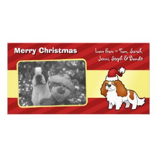 Chrstmas Cavalier King Charles Spaniel Personalised Photo Card