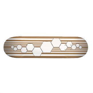 Chrysalis XIII (Tan/White) Skateboard Deck