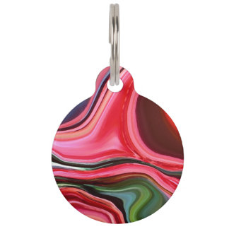 Chrysanthemum Abstract Pet ID Tag