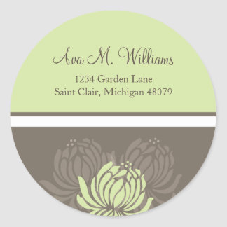 Chrysanthemum Address Label/Favor Sticker