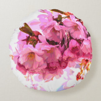 Chrysanthemum and Cherry Blossom Reversible Pillow