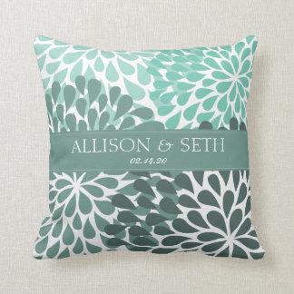Chrysanthemum (Beryl Green) Wedding Shower Gift Cushion