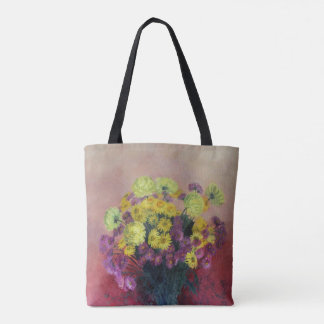 Chrysanthemum bouquet - tote bag