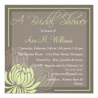 Chrysanthemum Bridal Shower Invitation