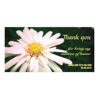 Chrysanthemum Bridesmaid Thank You Card Personalized Photo Card