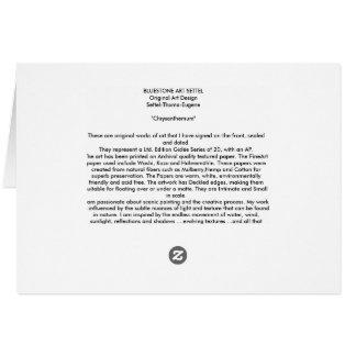 """Chrysanthemum Card"