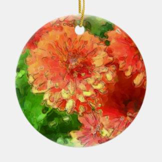 Chrysanthemum Ceramic Ornament