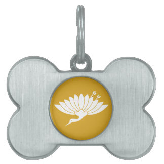 Chrysanthemum crane pet name tag