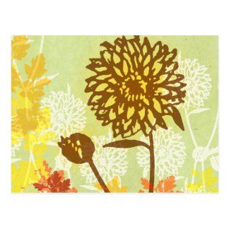 Chrysanthemum Graphic Postcard