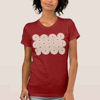 Chrysanthemum I motif ladies red t-shirt