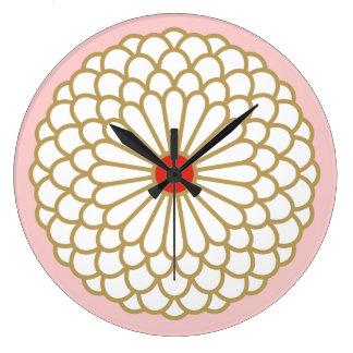 Chrysanthemum I Round Clocks