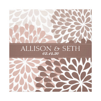Chrysanthemum (Nutmeg) Canvas Wedding Gift