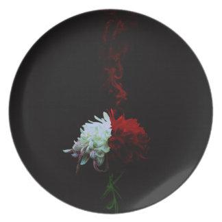 Chrysanthemum one 凛 - Chrysanthemum- Plate