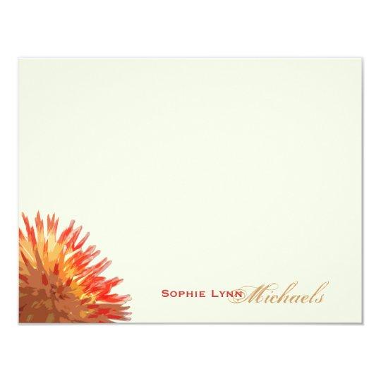 Chrysanthemum Personalised Stationery Card