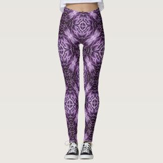 Chrysanthemum Purple Pattern Leggings
