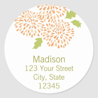 Chrysanthemum Return Address Envelope Seal