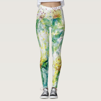 Chrysanthemum Splash Leggings