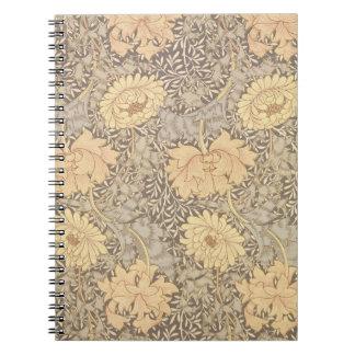 'Chrysanthemum' wallpaper design, 1876 Notebook