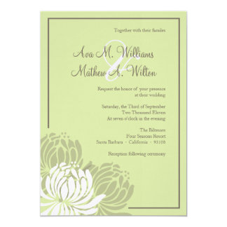 Chrysanthemum Wedding Invitation