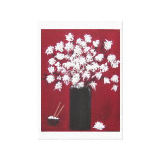 Chrysanthemums and the Rice Bowl Canvas Print